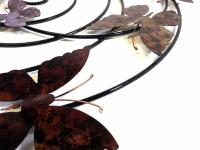 Metal Wall Art - Colour Butterfly Spiral