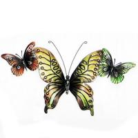 Metal Wall Art - Colour Butterfly Trio