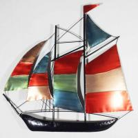 Metal Wall Art - Colour Sailing Ship Yacht