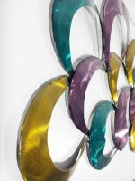 Metal Wall Art - Coloured Abstract Hoops