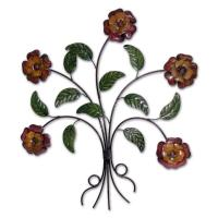 Metal Wall Art - Country Flower Bunch