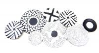 Metal Wall Art - Distressed Abstract Discs
