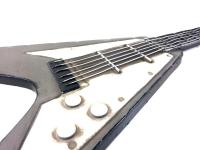 Metal Wall Art - Grey Electric Rock Guitar