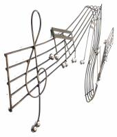 Metal Wall Art - Large Music Scroll