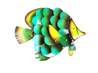 Metal Wall Art - Large Tropical Angel Fish