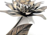 Metal Wall Art - Left Bronze Flower