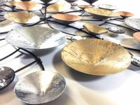 Metal Wall Art - Metallic Abstract Solar Discs