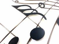 Metal Wall Art - Music Score Sweep