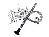 Metal Wall Art - Clarinet Music Swirl