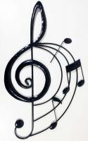 Metal Wall Art - Music Treble Clef Scroll