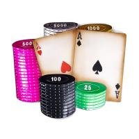 Metal Wall Art - Poker Cards And Chips