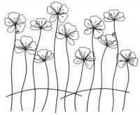 Metal Wall Art - Poppy Fence Scene