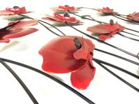 Metal Wall Art - Poppy Flower Scene