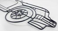 Metal Wall Art - Porshe Style Outline