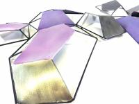 Metal Wall Art - Purple Abstract Skew Shapes