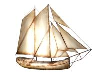 Metal Wall Art - Rustic Sail Boat Yacht