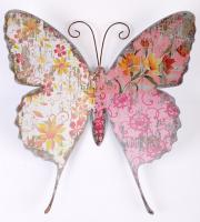 Metal Wall Art - Shabby Chic Antique Print Butterfly