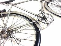Metal Wall Art - Silver Racing Bike