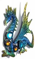 Metal Wall Art - Small Baby Dragon Blue