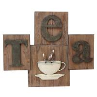 Metal Wall Art - Tea Cup And Sign