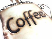 Metal Wall Art - Steaming Coffee Cup