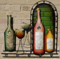 Metal Wall Art - Wine Time Tall Arch
