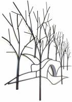 Metal Wall Art - Winter Tree and Bridge Scene