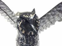 Metal Wise Owl Figure