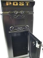 Ornate Freestanding Post Box - Black