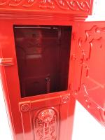 Ornate Freestanding Post Box - Red