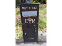 Replica Royal Mail ER Post Box Or Letter Box Front Fascia - Black