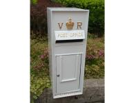 Replica Victorian Wall Mounted Royal Mail VR Post Box Or Letter Box - White