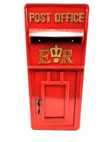 Replica Wall Mounted Royal Mail ER Post Box Or Letter Box - Red