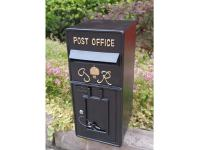 Replica Wall Mounted Royal Mail GR Post Box Or Letter Box - Black