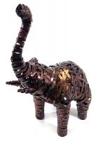 Small Metal Elephant Standing Statue