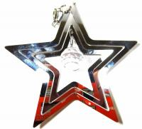 Baby Star Stainless Steel Wind Spinner With Crystal