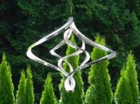 Stainless Steel Butterfly Wind Spinner - 32cm Tall