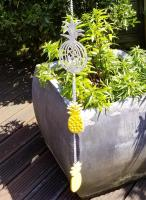 Stainless Steel Decorative Hanging Chain - Yellow Pineapple