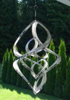 Stainless Steel Double Wind Spinner - 50cm Tall