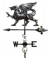 Stainless Steel Garden Weathervane - Dragon Design