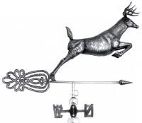 Stainless Steel Garden Weathervane - Stag Design