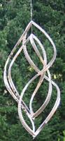 Stainless Steel Tall Wind Spinner - 60cm Tall