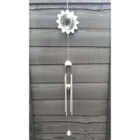 Stainless Steel Wind Spinner - Shades Of Green Glower Colour Wind Chime Design