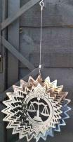 Stainless Steel Wind Spinner Zodiac Design - Libra
