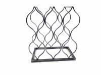 Teardrop Metal Wine Rack Holds 8 Bottles