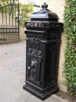 Vintage Black Grand Pillar Post Box