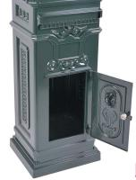 Vintage Green Grand Pillar Post Box