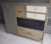 Vintage Industrial Home Sideboard Storage Unit