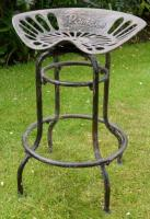 Vintage Industrial Swivel Tractor Seat Stool