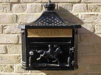 Wall Mounted Aluminium Post Box - Black